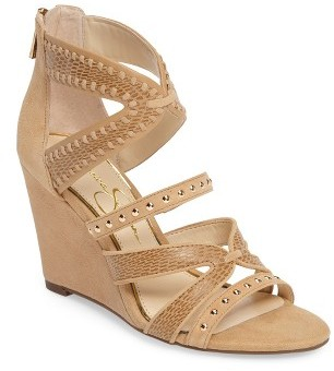 Women's Jessica Simpson Zenolia Strappy Embellished Wedge $118.95 thestylecure.com