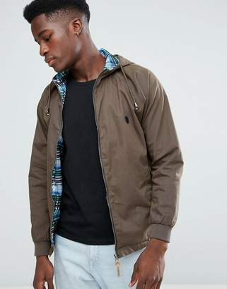 Le Breve Hood Anarac with Check Lining