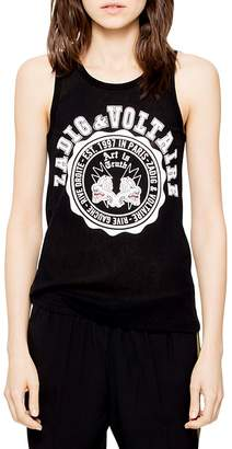 Zadig & Voltaire Lou Graphic Mesh Tank