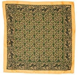 Barker Black Printed Silk Pocket Square