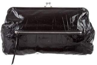 Devi Kroell Patent Leather Kiss-Lock Clutch