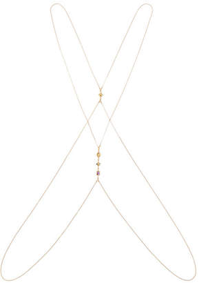 Chan Luu Gold-plated, Amethyst, Citrine And Labradorite Body Chain