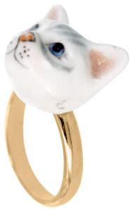 Nach Mini Cat Adjustable Porcelain Ring