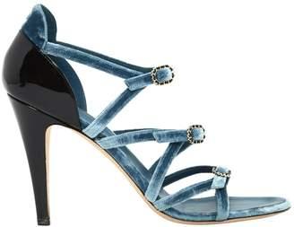 Chanel Blue Velvet Sandals