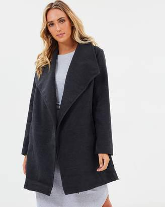 Elwood Harbour Coat Charcoal