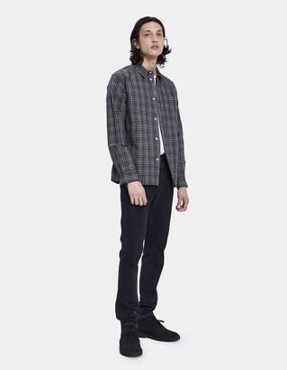 Mhl. Painters Button Up Shirt in Navy/Natural