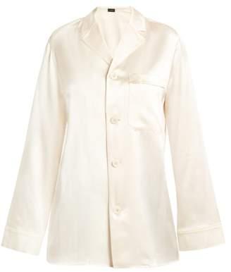 Joseph Rupert Pyjama Style Silk Shirt - Womens - Cream