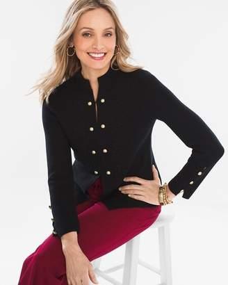 Military-Style Sweater Jacket