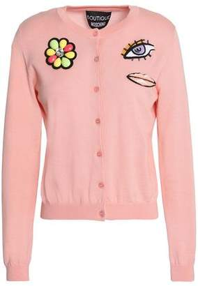 Moschino Embellished Wool And Cotton-Blend Cardigan