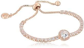 Anne Klein Classics Gold Pave Center Stone Slider Bracelet