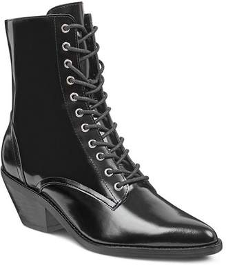 Marc Fisher Women's Bowie Leather Lace Up Booties
