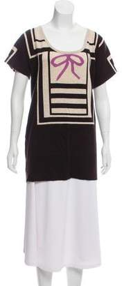 Diane von Furstenberg Bow Accented Mini Dress