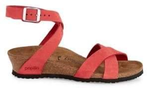 Birkenstock Women's Lola Nubuck Strappy Wedge Sandals