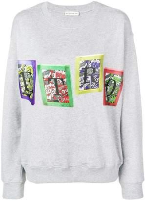 Etro comic strip logo print jumper