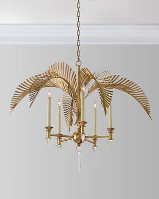 John-Richard Collection Palm Frond 5-Light Chandelier