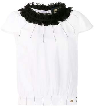 19bf07e0b7e2ea Class Roberto Cavalli ruffled neck blouse
