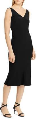 Ralph Lauren Embellished Shoulder Sheath Dress