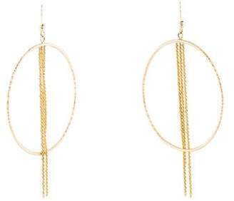 14K Fringe Hoop Earrings