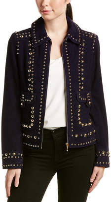 Trina Turk Rosewood Leather Jacket
