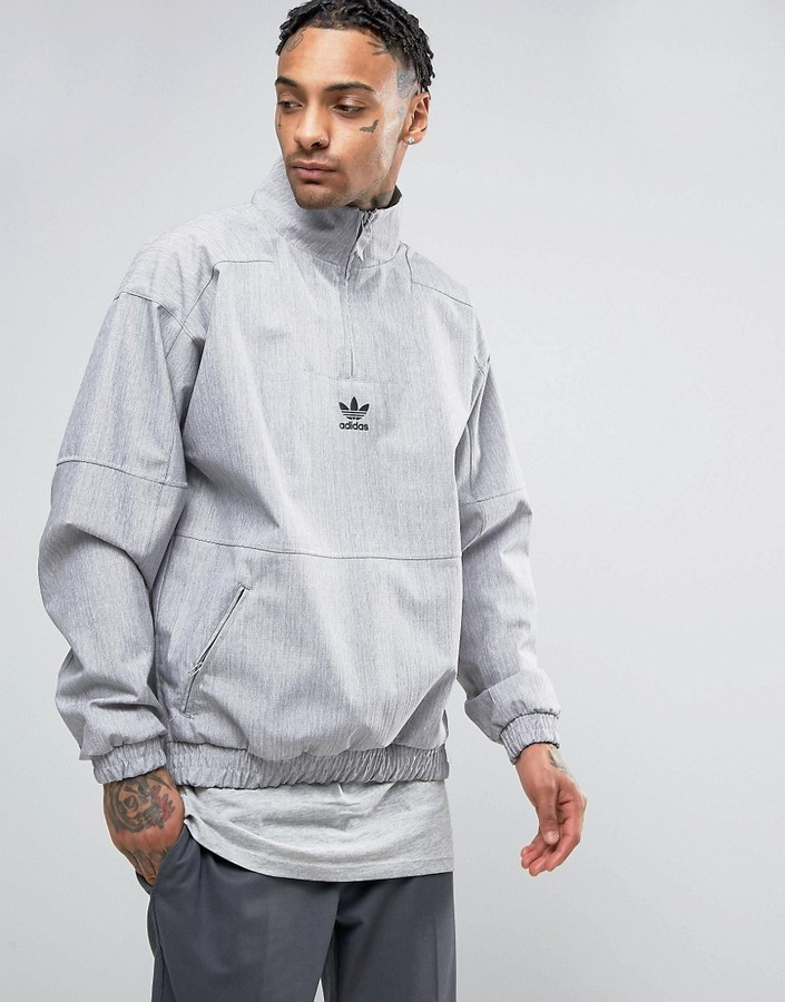 adidas Originals Paris Pack 1/2 Zip Sweatshirt In Gray BK0529