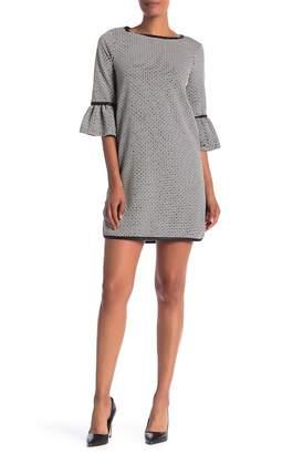 Max Studio Geo Printed Bell Sleeve Dress