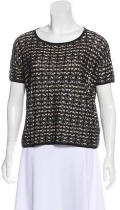 AllSaints Linen Blend Short Sleeve Top