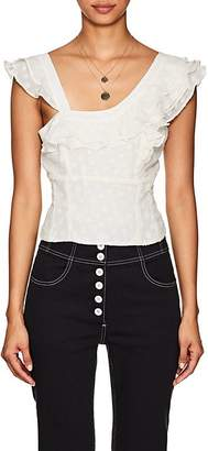 FiveSeventyFive Women's Ruffle Fil Coupé Sleeveless Blouse