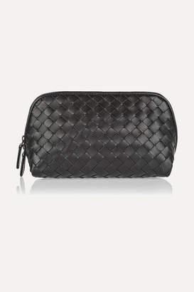 Bottega Veneta Intrecciato Leather Cosmetics Case - Black