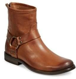 Frye Phillip Harn Leather Biker Boots