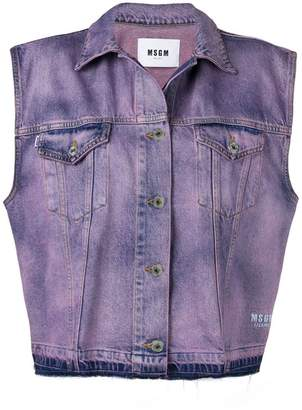 MSGM sleeveless denim jacket
