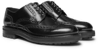 Dolce & Gabbana Polished-Leather Brogues - Men - Black