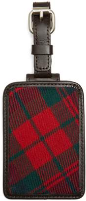 Brooks Brothers Red and Navy Plaid Luggage Tag