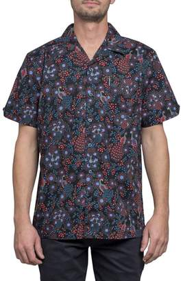 Ben Sherman Trim Fit Print Short Sleeve Sport Shirt