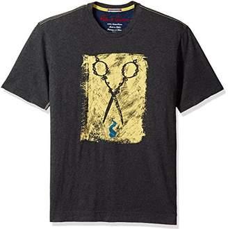 Robert Graham Men's Scissors Short Sleeve Knit Graphic T-Shirt