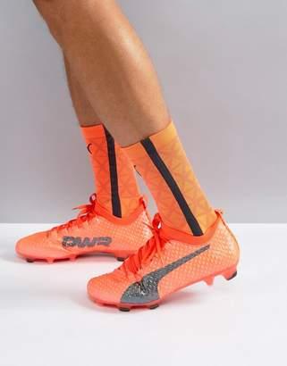 Puma Evopower Vigor 3d 1 Firm Ground Football Boots In Orange 10399903