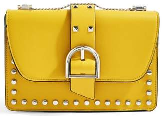 Topshop Buckle Faux Leather Crossbody Bag