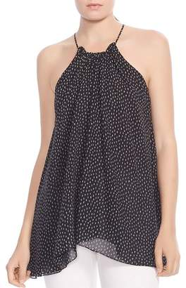 Halston Ruched Printed Cami