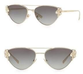 Versace Grad Jeweled Goldtone 56MM Aviator Sunglasses
