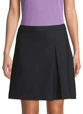 A.P.C. Pleated Wool-Blend Mini Skirt