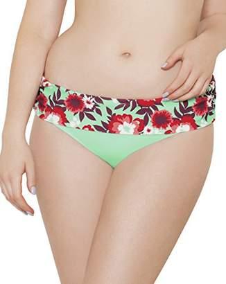 58cf5669fd Curvy Kate Women s Aloha Fold Over Brief Bikini Bottoms