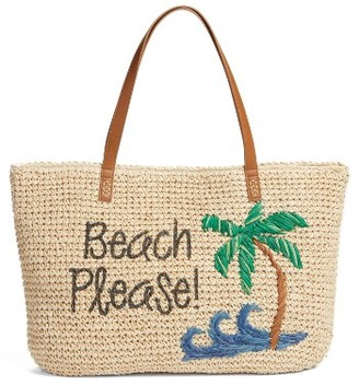 Nordstrom Beach Please Tote - Brown $49 thestylecure.com