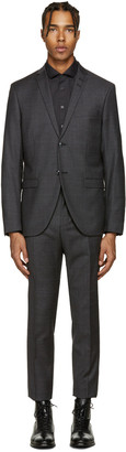 Tiger of Sweden Grey Small Check Jill Suit $950 thestylecure.com