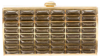 Judith Leiber Snakeskin-Trimmed Box Clutch $1,095 thestylecure.com
