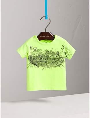 Burberry Doodle Print Cotton Jersey T-shirt
