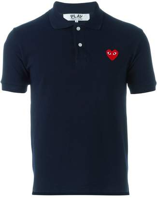 Comme des Garcons embroidered heart polo shirt