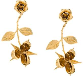 Jennifer Behr floral design earrings
