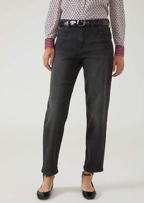 Emporio Armani Relaxed Fit Stone Washed Denim Jeans