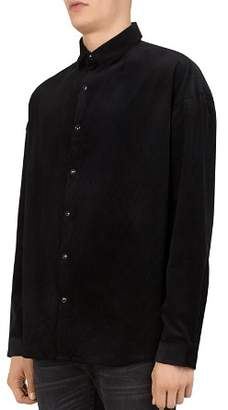 The Kooples Lizzy Ribbed Regular Fit Button-Down Shirt