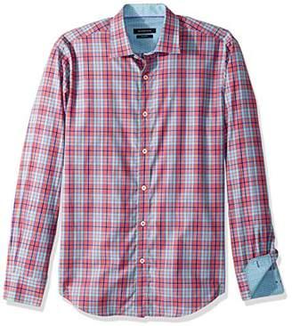Bugatchi Men's Cotton Slim Fit Long Sleeve Dalziel Shirt