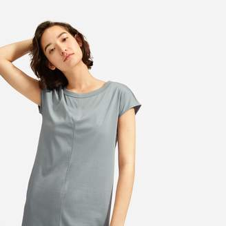 Everlane The Luxe Cotton Side-Slit Tee Dress